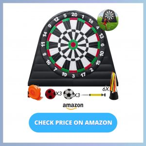 Popsport 10X10ft Inflatable Soccer Darts Board Inflatable Football Darts reviews