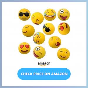 Kangaroo Emoji Universe_ 12-Inch Emoji Inflatable Beach Balls